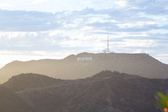 Hollywood sign as seen from Griffith Observatory Stock Photography