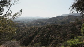 Hollywood sign on. Beautiful mountain view. Hollywood sign on mountain in distance in Hollywood, California stock video