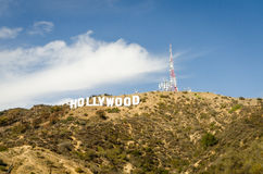 Hollywood Sign in Beaverly Hills Royalty Free Stock Images