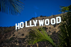 Hollywood sign. HOLLYWOOD - CALIFORNIA 2014: The Hollywood sign, built in 1923, is shown as Hollywood gets ready to host the 2014 Academy Awards. Photo taken on Stock Images