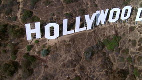 Hollywood Sign Flyover stock video