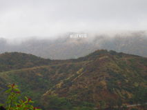Hollywood sign in the fog Royalty Free Stock Image