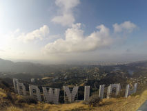 Hollywood Sign Fog Stock Image