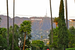 Hollywood Sign from Hollywood Forever Cemetery. Hollywood Sign, Los Angeles CA Stock Images