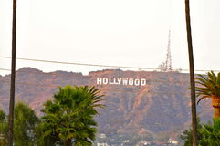 Hollywood Sign from Hollywood Forever Cemetery royalty free stock image