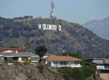 Hollywood Sign and Homes Royalty Free Stock Image