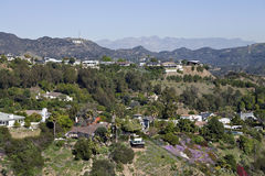 Hollywood Sign and Homes in the Hills Stock Photo