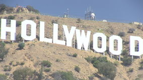 The Hollywood sign stock video footage