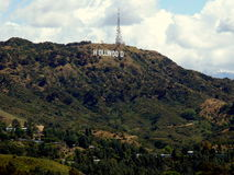 Hollywood Sign. Located in Hollywood, California, USA Stock Photos