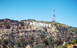 Hollywood sign located on Mount Lee Royalty Free Stock Images