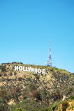 Hollywood sign located on Mount Lee Royalty Free Stock Photos