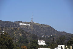Hollywood sign in los angeles califorinia Royalty Free Stock Photo