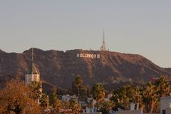 Hollywood sign in Hollywood, Los Angeles, California royalty free stock image