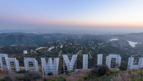 Hollywood Sign Los Angeles stock video footage
