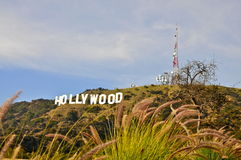 Hollywood Sign and Antennas Royalty Free Stock Photos