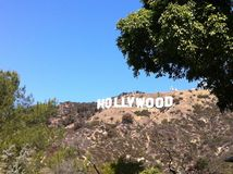 Hollywood sign LA. The Hollywood sign in Los Angeles stock photos