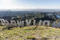 Hollywood Sign Morning View royalty free stock photography