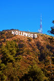 Hollywood sign in Mount Lee, Los Angeles Stock Images