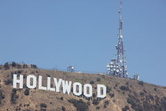 Hollywood Sign on Mount Lee, Los Angeles, Californis Royalty Free Stock Image