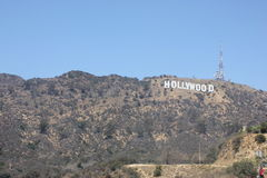 Hollywood Sign on Mount Lee, Los Angeles, Californis Stock Image