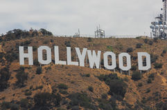Hollywood sign on mountains in Los Angeles Royalty Free Stock Images