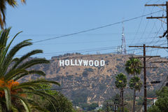 Hollywood sign on October 17, 2011 in Los Angeles. Royalty Free Stock Image