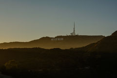 The Hollywood sign overlooking Los Angeles. Stock Photography