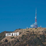 Hollywood sign on Santa Monica mountains in Los Angeles Royalty Free Stock Photo