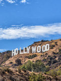 The Hollywood Sign. Scenic view of the Hollywood Sign on Mount Lee, Los Angeles, California, U.S.A