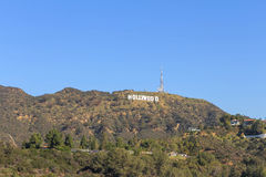 Hollywood sign seeing Royalty Free Stock Image