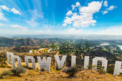 Hollywood sign seen from behind Royalty Free Stock Images