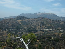 The Hollywood Sign Seen From the Griffith Park Observatory Stock Images