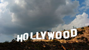 Hollywood Sign Time-lapse 1 Day Clouds