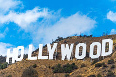 Hollywood sign under a blue sky Stock Photo