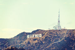 Hollywood sign in vintage tone Royalty Free Stock Photos