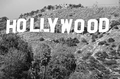 Hollywood Sign;World famous landmark. Stock Images