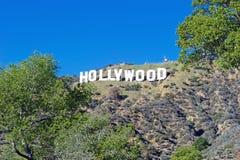 Hollywood Sign;World famous landmark. Stock Photo