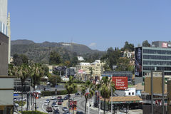 Hollywood signent dedans le califorinia de Los Angeles Photo libre de droits