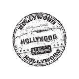 Hollywood stamp. Black grunge rubber stamp with the name of Hollywood written inside the stamp Royalty Free Stock Photos