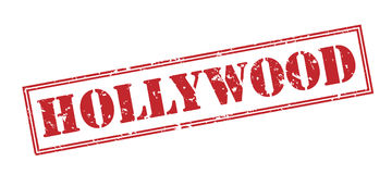 Hollywood stamp on white background Stock Photography