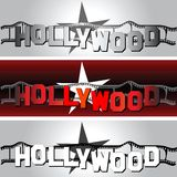Hollywood star. Design of poster for cinema Royalty Free Stock Images