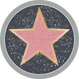 Hollywood Star. Reminiscent of a Hollywood sidewalk star Stock Photos