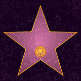 Hollywood Star. A blank Hollywood movie star from the walk of fame Royalty Free Stock Photos
