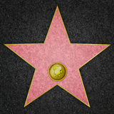 Hollywood Star - Film Star. Blank Hollywood marble star for film, from Hollywood Boulevard Royalty Free Stock Photos