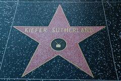 Hollywood-Star Kiefer Sutherland stockbilder
