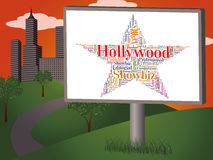 Hollywood Star Means Los Angeles And California Stock Photos