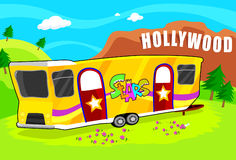 Hollywood Star Trailer Stock Photo