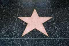 Hollywood stjärna royaltyfri fotografi