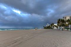 Hollywood strand - Florida royaltyfria bilder