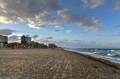 Hollywood strand - Florida royaltyfri fotografi